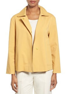 Lafayette 148 New York 'Tavi' Snap Front Jacket (Regular & Petite)