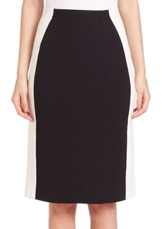 Lafayette 148 New York Two-Tone Slim Knit Skirt