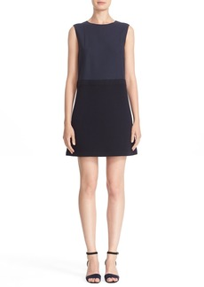 Lafayette 148 New York 'Vilma' Mixed Media A-Line Dress