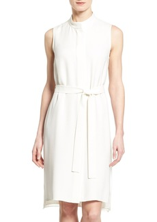 Lafayette 148 New York 'Windsor' Belted A-Line Dress