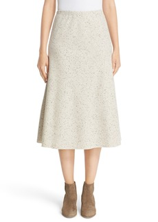 Lafayette 148 New York Donegal Wool Jersey Tulip Skirt