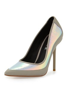 L.A.M.B. Bethel Iridescent Pointed-Toe Pump