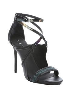 L.A.M.B. black and iridescent leather 'Ba...