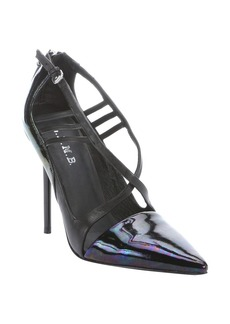 L.A.M.B. black and iridescent leather 'Bo...