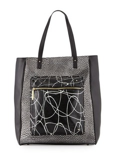 L.A.M.B. Ibis Metallic Leather Tote Bag