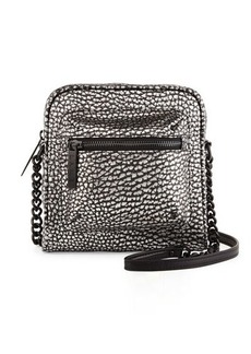 L.A.M.B. Ice Metallic Leather Crossbody Bag