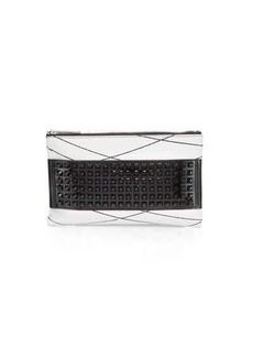 L.A.M.B. Jana Studded Leather Clutch Bag
