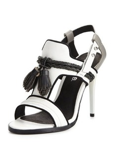 L.A.M.B. Voice Leather Tassel Sandal