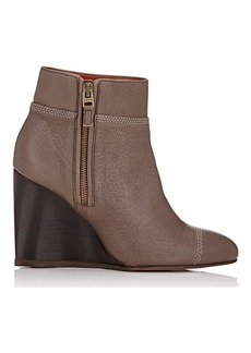 Lanvin Cap-Toe Wedge Ankle Boots