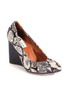 Lanvin Elaphe Ballerina Wedge Pumps