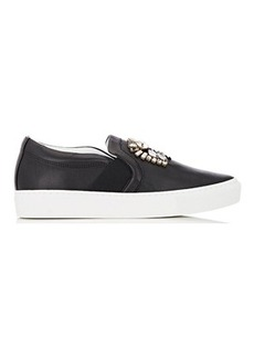 Lanvin Embellished Slip-On Sneakers