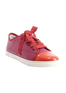 Lanvin fuschia and red leather cap toe ...
