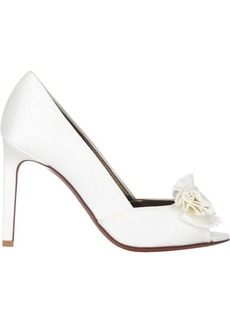 Lanvin Satin Bow-Embellished Pumps