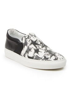 Lanvin Star-Print Leather Slip-On Sneakers