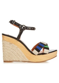 Lanvin Striped espadrille wedges