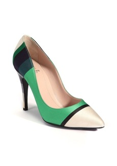 Lanvin Striped Point-Toe Pumps