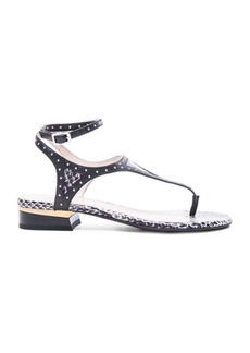 Lanvin Studded Flat Sandals