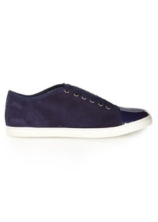 Lanvin Capped-toe suede low-top trainers