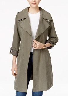 Laundry by Design Draped Asymmetrical Trench Coat