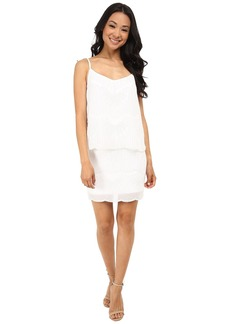 Laundry by Shelli Segal Beaded Chiffon Pop Over Dress