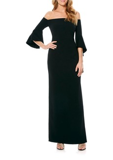 LAUNDRY BY SHELLI SEGAL Bell-Sleeved Gown