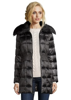 Laundry by Shelli Segal black box quilted faux fur shawl...