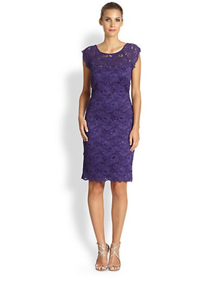Laundry by Shelli Segal Cap-Sleeve Lace Dress