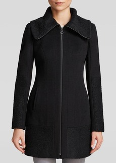 Laundry by Shelli Segal Coat - Bouclé Zip Front