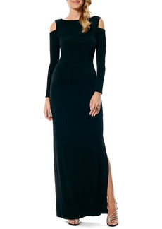 Laundry by Shelli Segal Cold Shoulder Jersey Gown (Regular & Petite) (Nordstrom Exclusive)