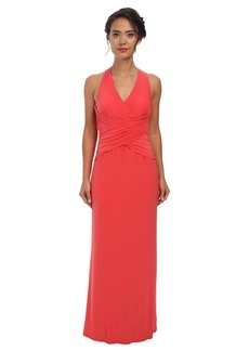 Laundry by Shelli Segal Crisscross Front & Back Jeresey Gown