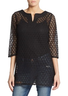 Laundry by Shelli Segal Crochet Tunic