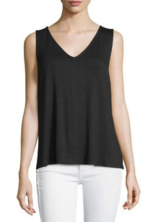 Laundry by Shelli Segal Cross-Back Chiffon-Panel Tank
