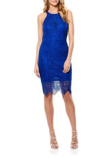 LAUNDRY BY SHELLI SEGAL Cut Away Scalloped Hem Dress