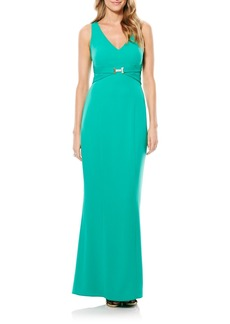 Laundry by Shelli Segal Cutout Jersey Gown