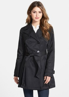 Laundry by Shelli Segal Double Breasted Trench Coat (Regular & Petite)