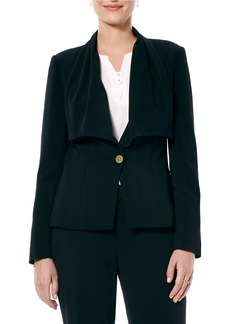 LAUNDRY BY SHELLI SEGAL Draped Collar Jacket