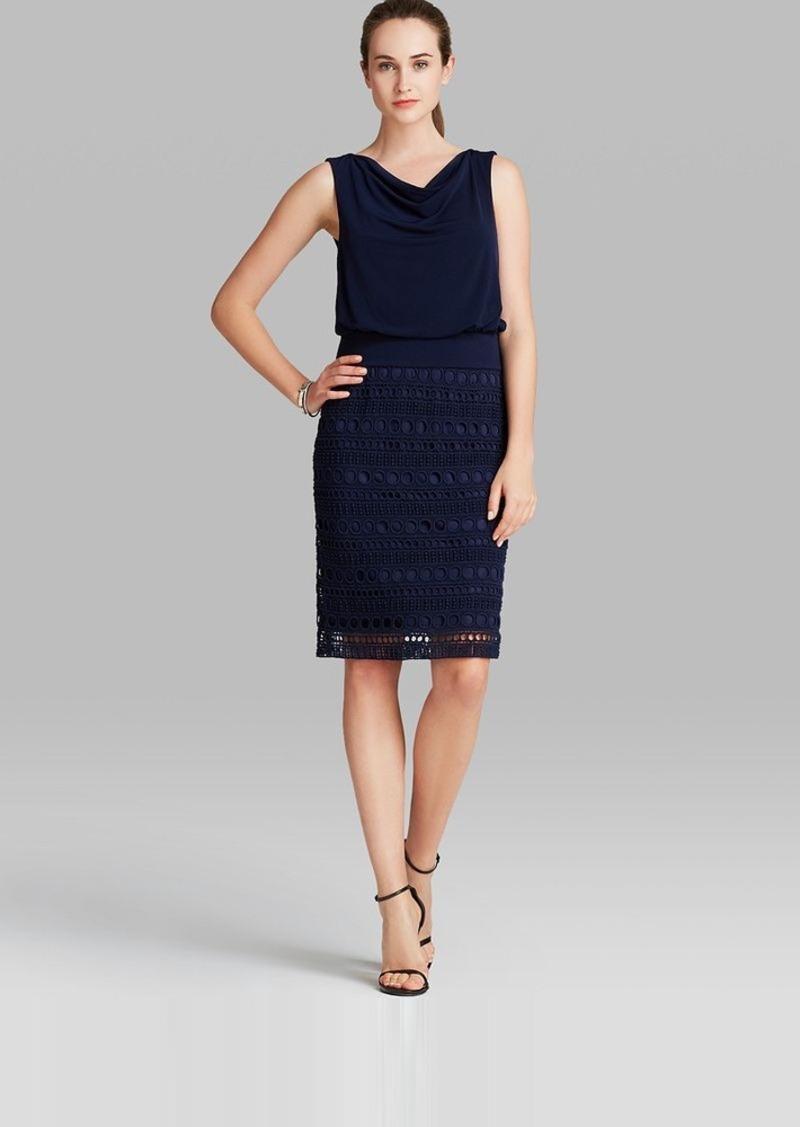 Laundry by Shelli Segal Dress - Sleeveless Blouson Lace Skirt