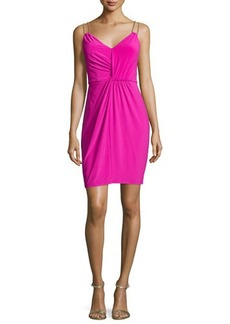 Laundry by Shelli Segal Embellished Double-Strap Sheath Dress