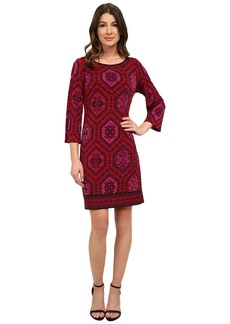 Laundry by Shelli Segal Emilio Border Boat Neck Dress