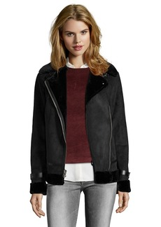 Laundry by Shelli Segal Faux suade jacket