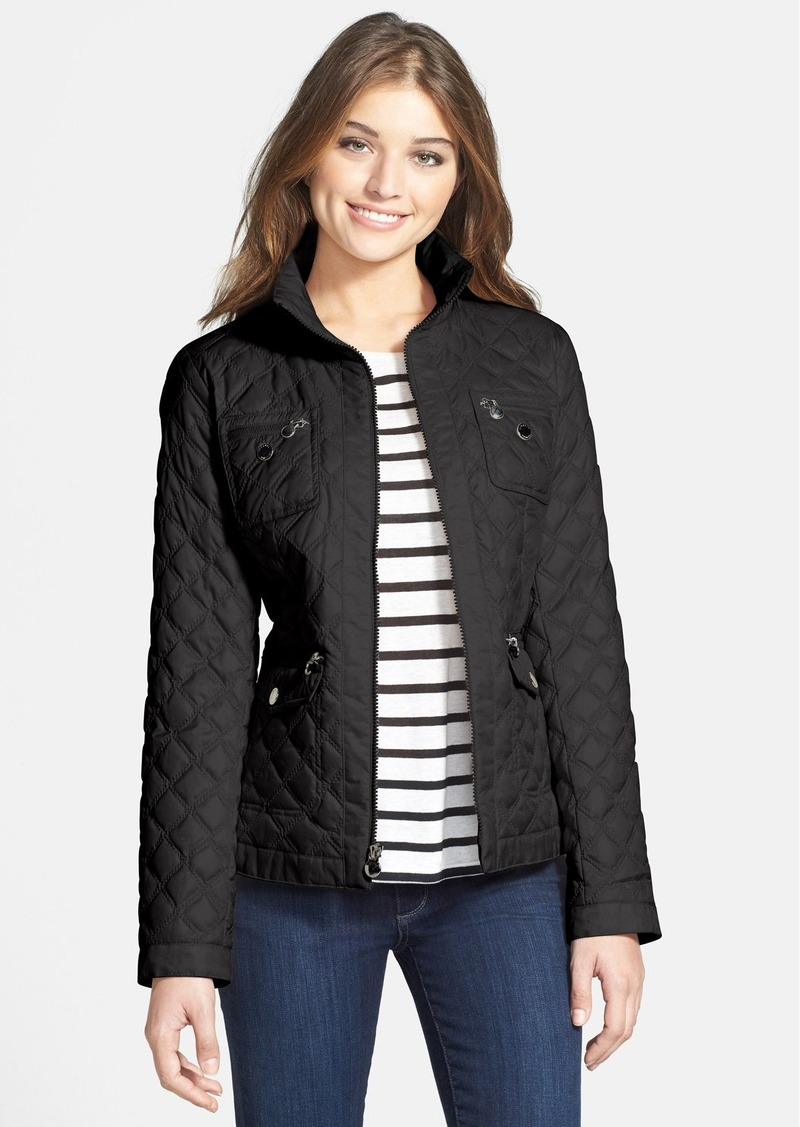 Laundry by Shelli Segal Four Pocket Hooded Quilted Jacket