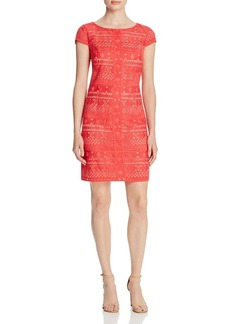 Laundry by Shelli Segal Geometric Embroidered Dress