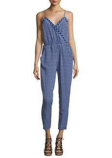 Laundry by Shelli Segal Geometric-Print Sleeveless Jumpsuit