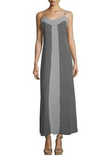 Laundry by Shelli Segal Geometric-Print Sleeveless Maxi Dress