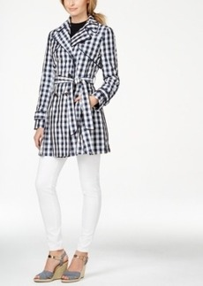 Laundry by Shelli Segal Gingham-Print Trench Coat