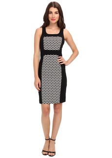 Laundry by Shelli Segal Graphic Jacquard Dress