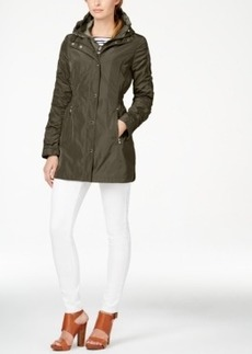 Laundry by Shelli Segal Hooded Layered Anorak Coat