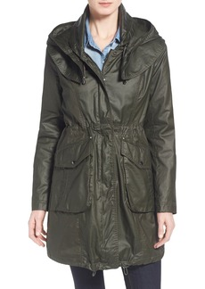 Laundry by Shelli Segal Hooded Waxed Cotton Utility Coat