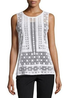 Laundry by Shelli Segal Lace Mesh Tank