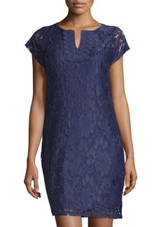 Laundry by Shelli Segal Lace T-Body Sheath Dress